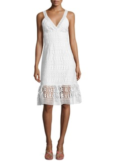 Diane von Furstenberg Tiana Sleeveless Lace Flounce Dress
