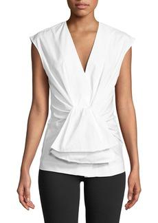 Diane Von Furstenberg Tie-Waist Cap-Sleeve Top