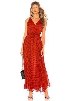 Diane von Furstenberg Tie Waist Maxi Dress