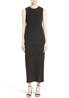 Diane von Furstenberg Tiered Knit Maxi Dress