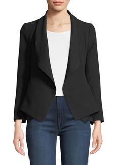 Diane von Furstenberg Tori Crepe Open-Front Waterfall Jacket