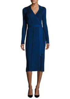 Diane von Furstenberg Transfer Rib Wrap Dress
