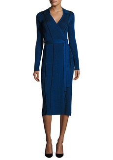 Diane von Furstenberg Transfer Rib Wrap Dress