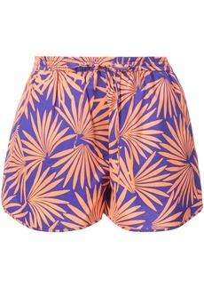 Diane Von Furstenberg tropical print shorts - Pink & Purple