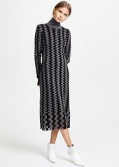 Diane von Furstenberg Turtleneck Knit Midi Dress