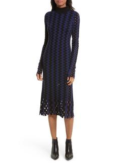 Diane von Furstenberg Turtleneck Merino Wool Midi Dress