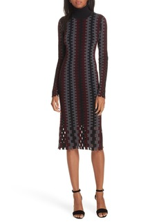 Diane von Furstenberg Turtleneck Merino Wool Midi Dress