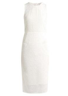 Diane Von Furstenberg Twig and circle-lace sleeveless midi dress