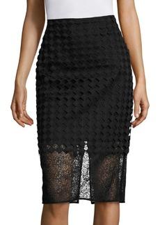 Diane von Furstenberg Twig Lace Pencil Skirt