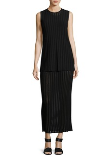 Diane Von Furstenberg Two-Tiered Sleeveless Knit Maxi Dress