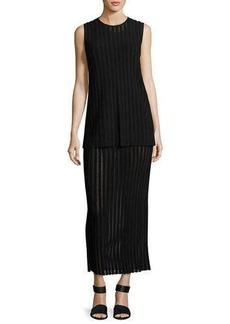 Diane von Furstenberg Two-Tiered Sleeveless Knit Maxi Dress