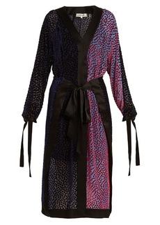 Diane Von Furstenberg V-neck devoré wrap dress