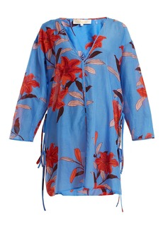 Diane Von Furstenberg V-neck floral-print cotton-blend dress