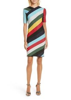 Diane von Furstenberg V-Neck Metallic Dress