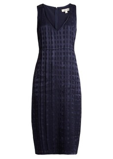 Diane Von Furstenberg V-neck sleeveless textured-satin dress