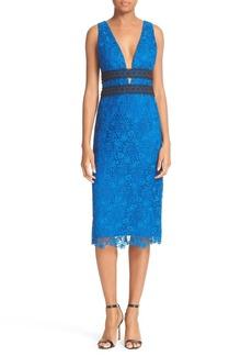 Diane von Furstenberg Viera Double V-Neck Lace Dress