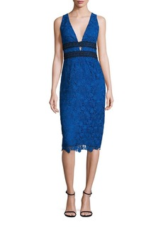 Diane von Furstenberg Viera Sleeveless Lace Dress