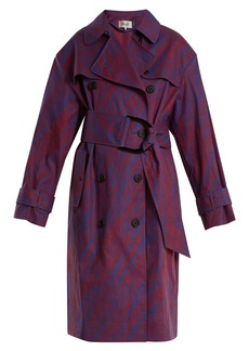 Diane Von Furstenberg Visconti-print cotton-blend trench coat