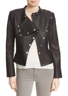 Diane von Furstenberg 'Warrior' Pebbled Leather Jacket