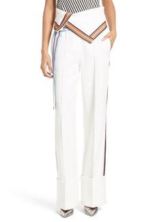 Diane von Furstenberg Wide Leg Linen Blend Trousers
