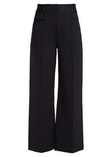 Diane Von Furstenberg Wide-leg pintucked culottes