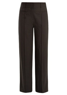 Diane Von Furstenberg Wide-leg pintucked wool-blend trousers