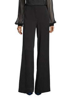 Diane von Furstenberg Wide Leg Silk-Blend Pants