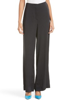 Diane von Furstenberg Wide Leg Stretch Silk Pants