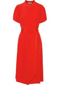 Diane Von Furstenberg Woman Addilyn Belted Silk Crepe De Chine Dress Red