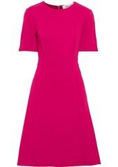 Diane Von Furstenberg Woman Alexandra Flared Ponte Dress Magenta