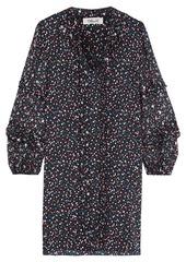 Diane Von Furstenberg Woman Amalie Fil Coupé Polka-dot Silk-blend Chiffon And Crepe De Chine Mini Dress Black
