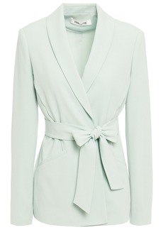 Diane Von Furstenberg Woman Amber Crepe Wrap Blazer Light Green