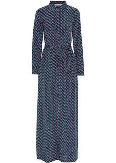 Diane Von Furstenberg Woman Amina Floral-print Silk Crepe De Chine Maxi Shirt Dress Multicolor