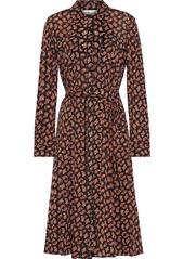 Diane Von Furstenberg Woman Andi Printed Mesh Shirt Dress Black