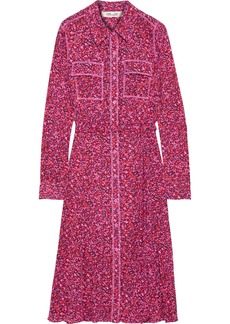 Diane Von Furstenberg Woman Andi Printed Mesh Shirt Dress Pink