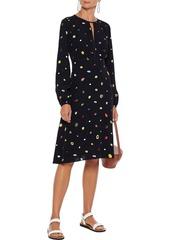 Diane Von Furstenberg Woman Andrea Printed Crepe Dress Black