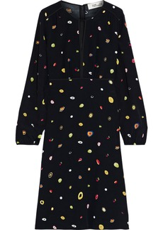 Diane Von Furstenberg Woman Andrea Printed Crepe Dress Black