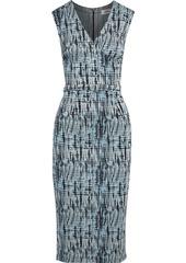 Diane Von Furstenberg Woman Anissa Wrap-effect Jacquard-knit Midi Dress Light Blue