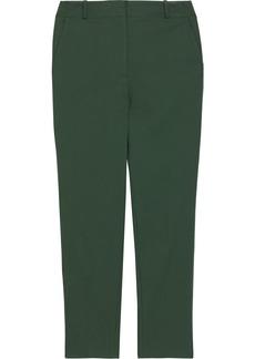 Diane Von Furstenberg Woman Anita Cropped Cotton-blend Slim-leg Pants Emerald