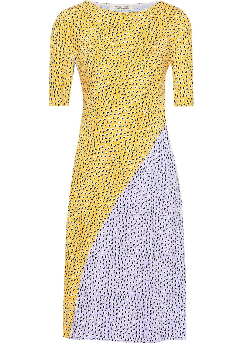 Diane Von Furstenberg Woman Arlow Printed Silk-crepe Dress Yellow