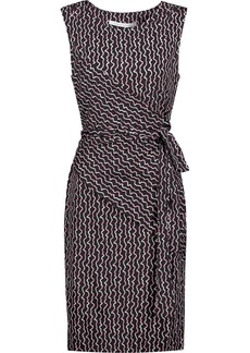 Diane Von Furstenberg Woman Ashlie Wrap-effect Printed Silk-jersey Dress Black