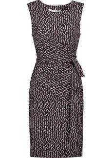 Diane Von Furstenberg Woman Ashlie Wrap-effect Printed Silk-jersey Dress Black