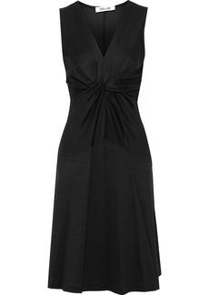 Diane Von Furstenberg Woman Baila Twist-front Jersey Dress Black