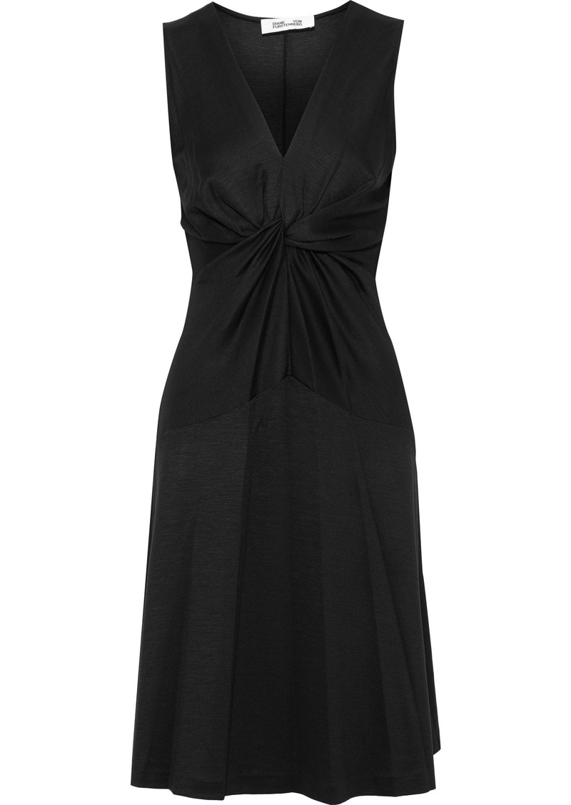 Diane Von Furstenberg Woman Baila Twist-front Jersey Dress Black