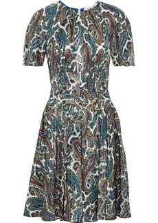Diane Von Furstenberg Woman Barton Metallic Printed Silk-blend Dress Multicolor