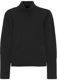 Diane Von Furstenberg Woman Beatrice Wool And Cashmere-blend Turtleneck Sweater Black