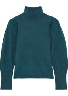 Diane Von Furstenberg Woman Beatrice Wool And Cashmere-blend Turtleneck Sweater Teal