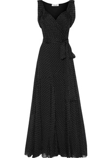 Diane Von Furstenberg Woman Belinda Printed Silk-georgette Maxi Wrap Dress Black