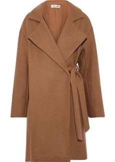 Diane Von Furstenberg Woman Belted Wool-blend Felt Coat Camel