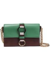 Diane Von Furstenberg Woman Bonne Journée Color-block Leather Shoulder Bag Green